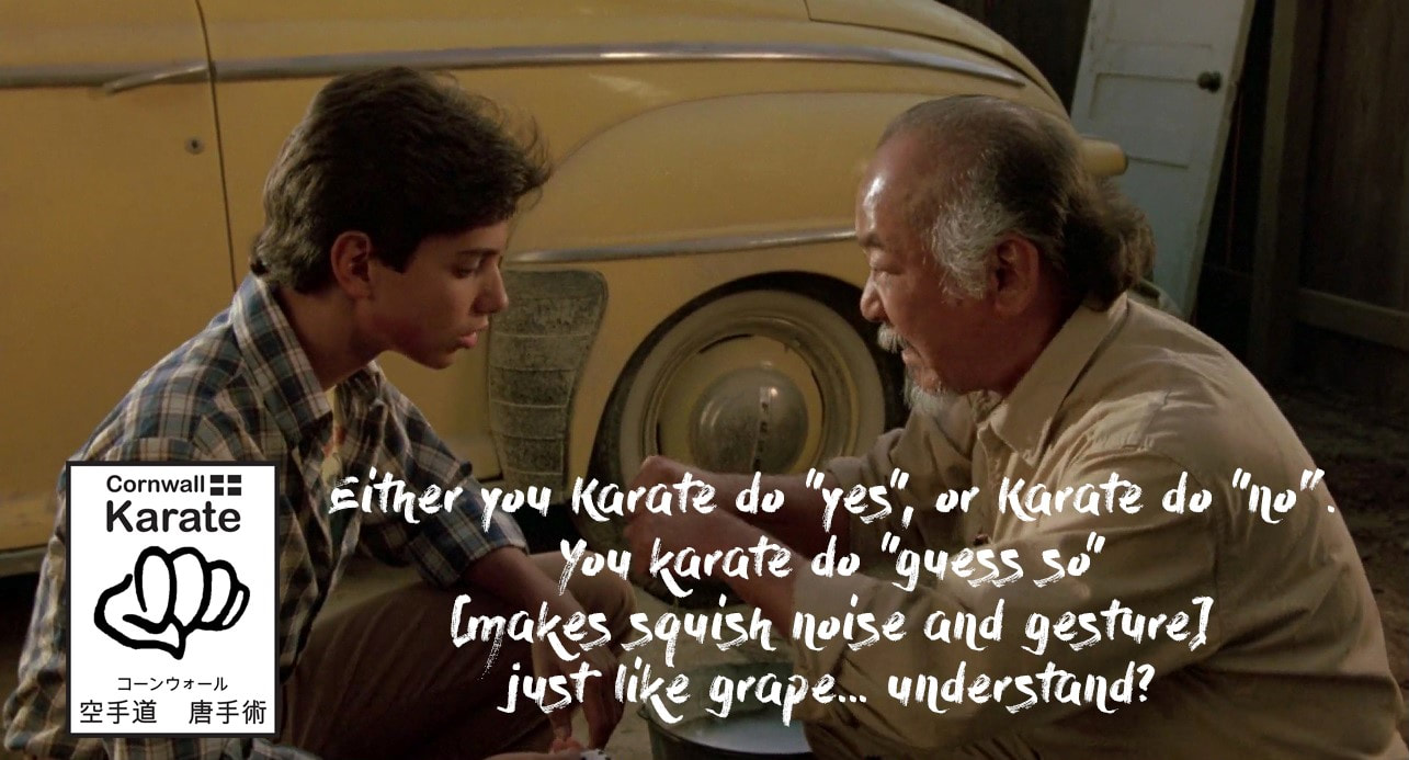 You have to commit to Karate!